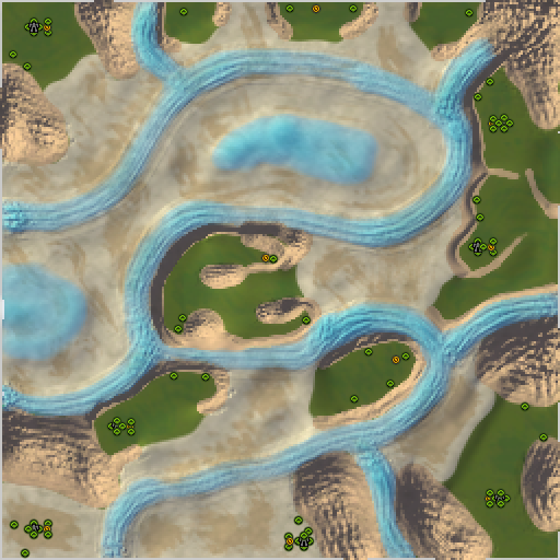 Карта along the river