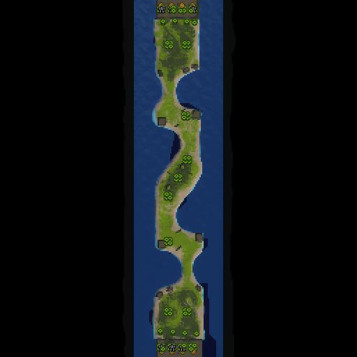 Карта castle fight 1