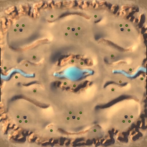 Карта crater dunes