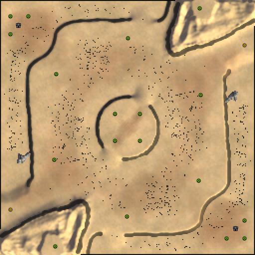 Карта desert plateau fight