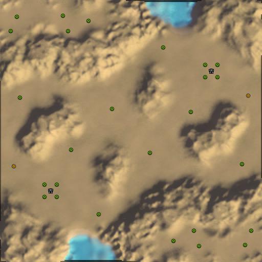 Карта deserted wastelands