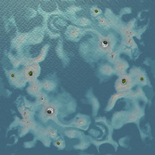 Карта small islands 40km